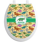 Dinosaurs Toilet Seat Decal (Personalized)