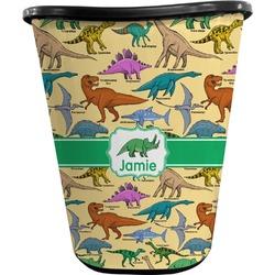 Dinosaurs Waste Basket - Double Sided (Black) (Personalized)