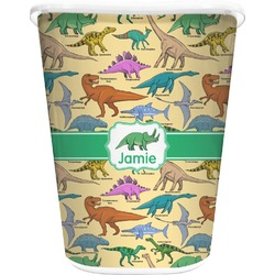 Dinosaurs Waste Basket - Double Sided (White) (Personalized)
