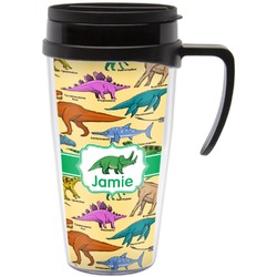 Dinosaurs Travel Mug with Handle (Personalized)