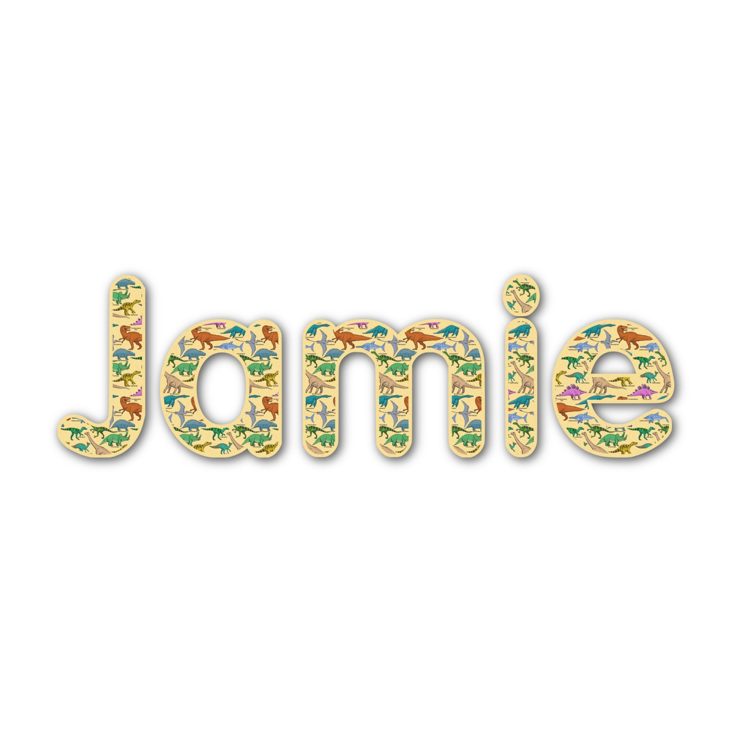 Dinosaurs Name Text Decal Custom Sized Personalized