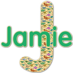 Dinosaurs Name & Initial Decal - Custom Sized (Personalized)
