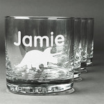 Dinosaurs Whiskey Glasses (Set of 4) (Personalized)