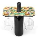 Dinosaurs Wine Bottle & Glass Holder (Personalized)