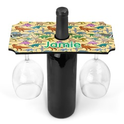 Dinosaurs Wine Bottle & Glass Holder (Personalized)
