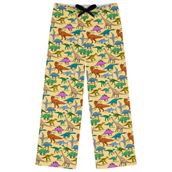 Dinosaurs Womens Pajama Pants - M (Personalized)