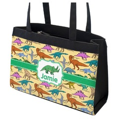 Dinosaurs Zippered Everyday Tote (Personalized)