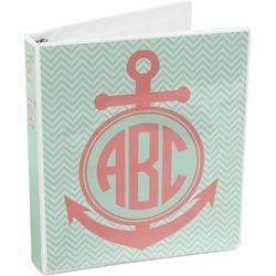 Chevron /& Anchor Vinyl Checkbook Cover Personalized