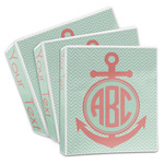 Chevron & Anchor 3-Ring Binder (Personalized)