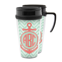 Chevron & Anchor Acrylic Travel Mugs (Personalized)