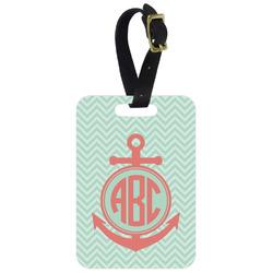 Chevron & Anchor Aluminum Luggage Tag (Personalized)