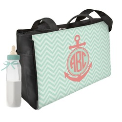 Chevron & Anchor Diaper Bag w/ Monogram