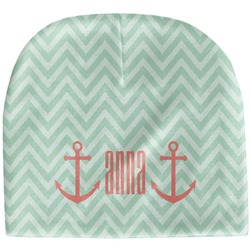 Chevron & Anchor Baby Hat (Beanie) (Personalized)