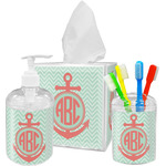 Chevron & Anchor Bathroom Accessories Set (Personalized)