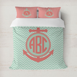 Chevron & Anchor Duvet Cover (Personalized)