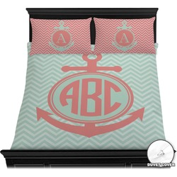 Chevron & Anchor Duvet Cover Set (Personalized)