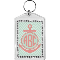 Chevron & Anchor Bling Keychain (Personalized)