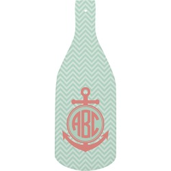 Chevron & Anchor Bottle Shaped Cutting Board (Personalized)
