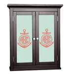 Chevron & Anchor Cabinet Decal - Custom Size (Personalized)