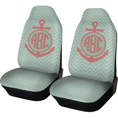 Chevron & Anchor Car Seat Covers (Set of Two) (Personalized)