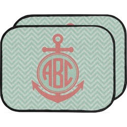 Chevron & Anchor Car Floor Mats (Back Seat) (Personalized)