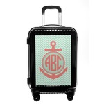 Chevron & Anchor Carry On Hard Shell Suitcase (Personalized)