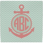 Chevron & Anchor Ceramic Tile Hot Pad (Personalized)