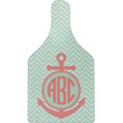 Chevron & Anchor Cheese Board (Personalized)