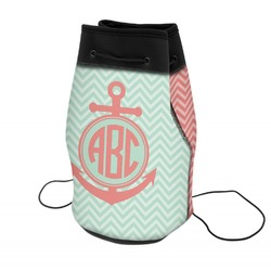 Chevron & Anchor Neoprene Drawstring Backpack (Personalized)