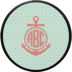 Chevron & Anchor Round Trailer Hitch Cover (Personalized)