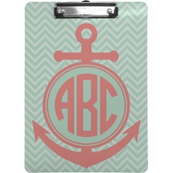 Chevron & Anchor Clipboard (Personalized)