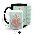 Chevron & Anchor Coffee Mugs (Personalized)