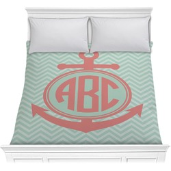 Chevron & Anchor Comforter (Personalized)