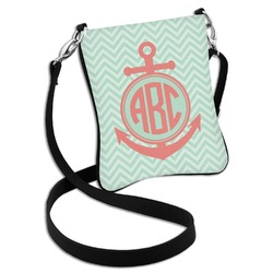 Chevron & Anchor Cross Body Bag - 2 Sizes (Personalized)