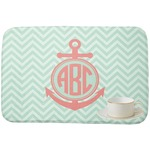 Chevron & Anchor Dish Drying Mat (Personalized)