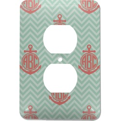 Chevron & Anchor Electric Outlet Plate (Personalized)