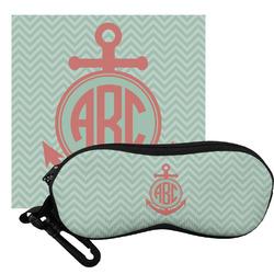 Chevron & Anchor Eyeglass Case & Cloth (Personalized)