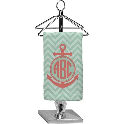Chevron & Anchor Finger Tip Towel - Full Print (Personalized)
