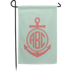 Chevron & Anchor Garden Flag - Single or Double Sided (Personalized)