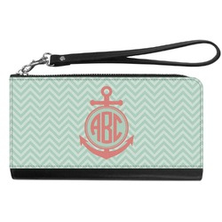 Chevron & Anchor Genuine Leather Smartphone Wrist Wallet (Personalized)