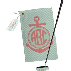 Chevron & Anchor Golf Towel Gift Set (Personalized)
