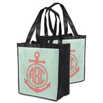 Chevron & Anchor Grocery Bag (Personalized)