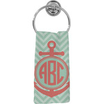 Chevron & Anchor Hand Towel - Full Print (Personalized)