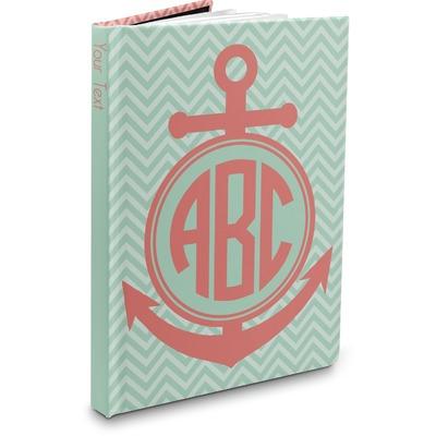 Chevron & Anchor Hardbound Journal (Personalized)