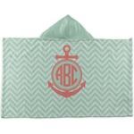 Chevron & Anchor Kids Hooded Towel (Personalized)
