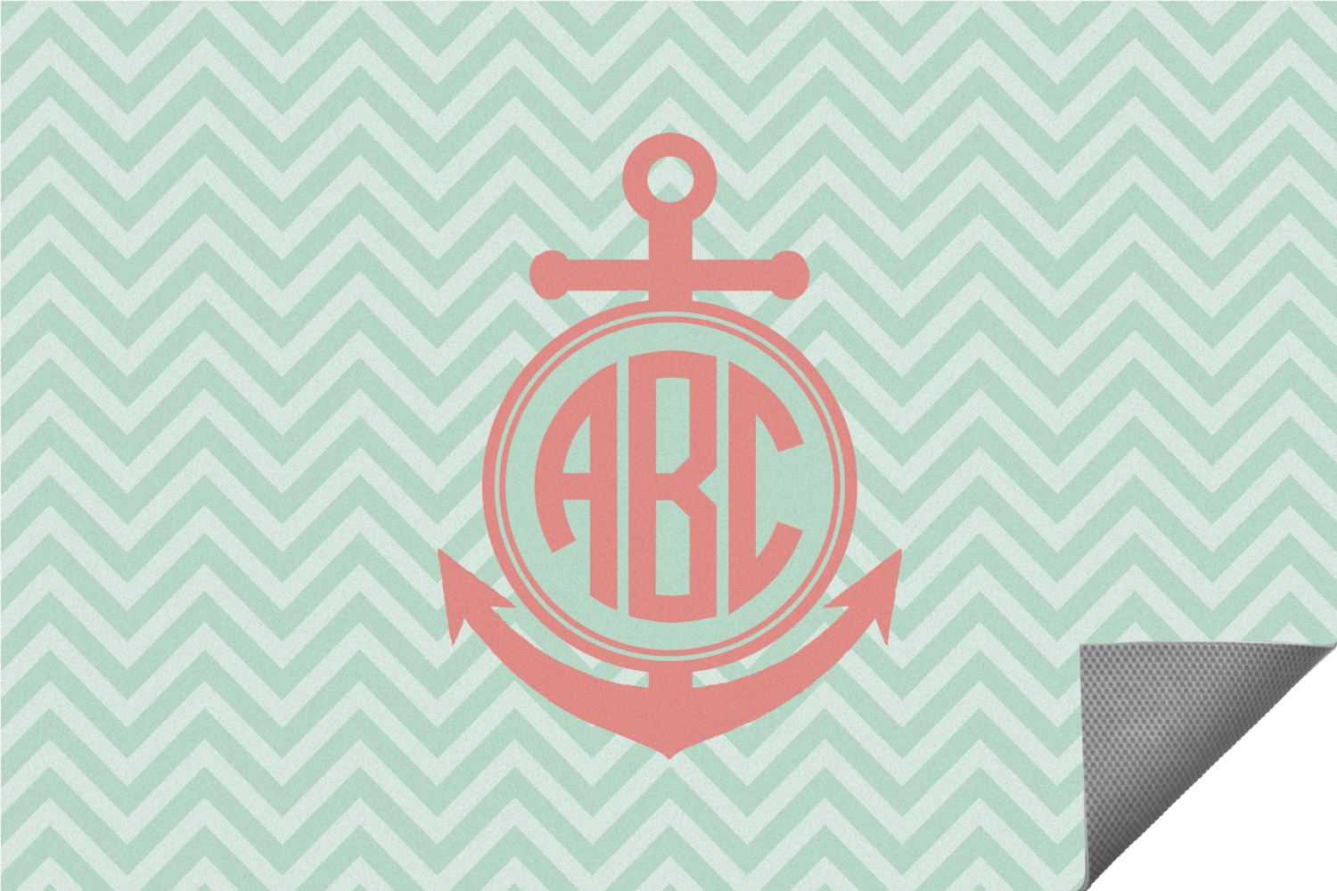 Chevron & Anchor Indoor / Outdoor Rug (Personalized) - YouCustomizeIt