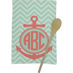 Chevron & Anchor Kitchen Towel - Full Print (Personalized)