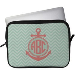 "Chevron & Anchor Laptop Sleeve / Case - 15"" (Personalized)"