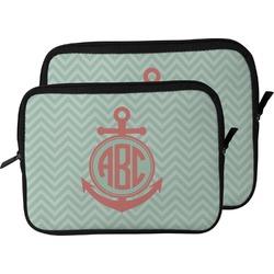 Chevron & Anchor Laptop Sleeve / Case (Personalized)