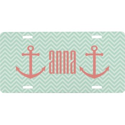 Chevron & Anchor Front License Plate (Personalized)
